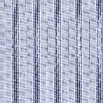 Popeline à rayures chemise bleues