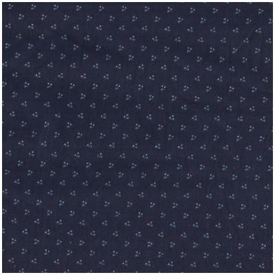 Satin de coton bleu nuit à mini fleurs