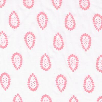 Batiste Grenade blanc et rose pamplemousse