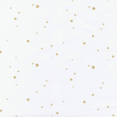 White poplin with golden stars