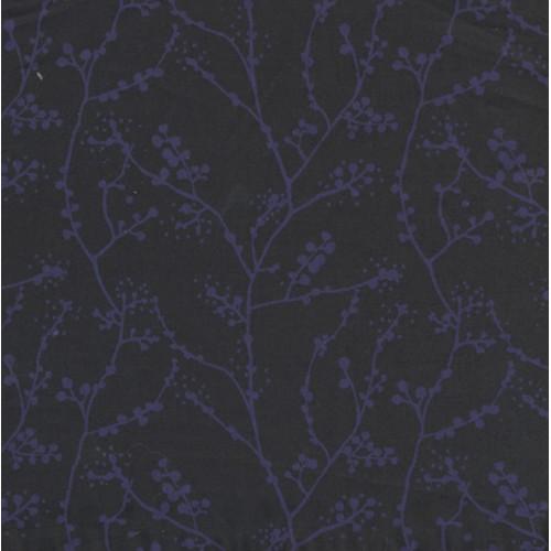 Popeline Brindille bleu nuit et violet