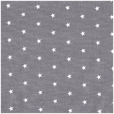 Poplin grey with white stars