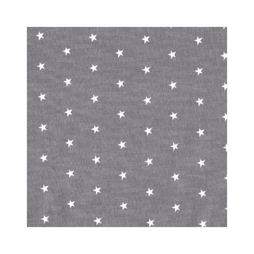 Poplin grey with white stars