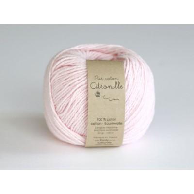 Pur coton rose poudre