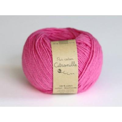 Pur coton rose fluo
