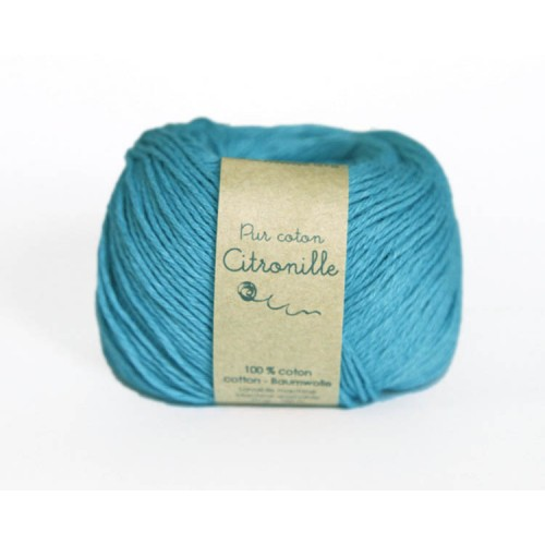 Pur coton turquoise