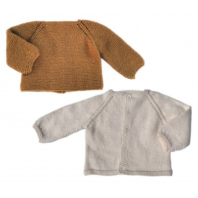 Vest or cardigan in Bébé merinos