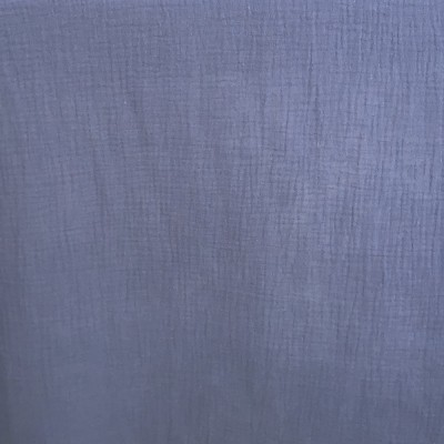 Organic cotton double gauze blue storm