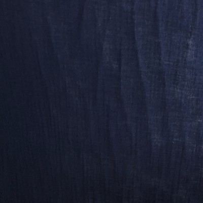 Organic cotton double gauze navy blue