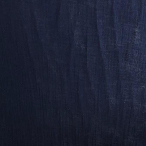 Double gaze de coton organique bleu marine