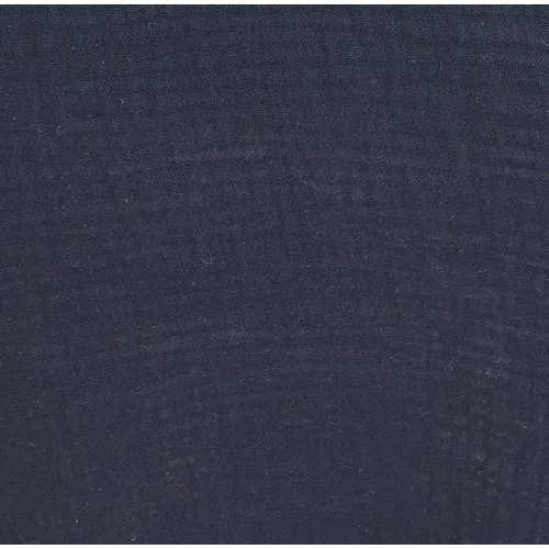 Organic cotton double gauze navy blue