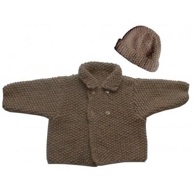 veste à double boutonnage et bonnet