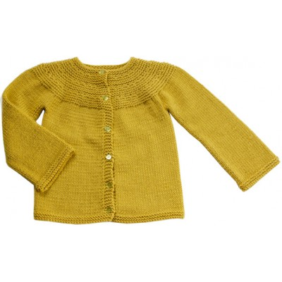 cardigan encolure arrondie