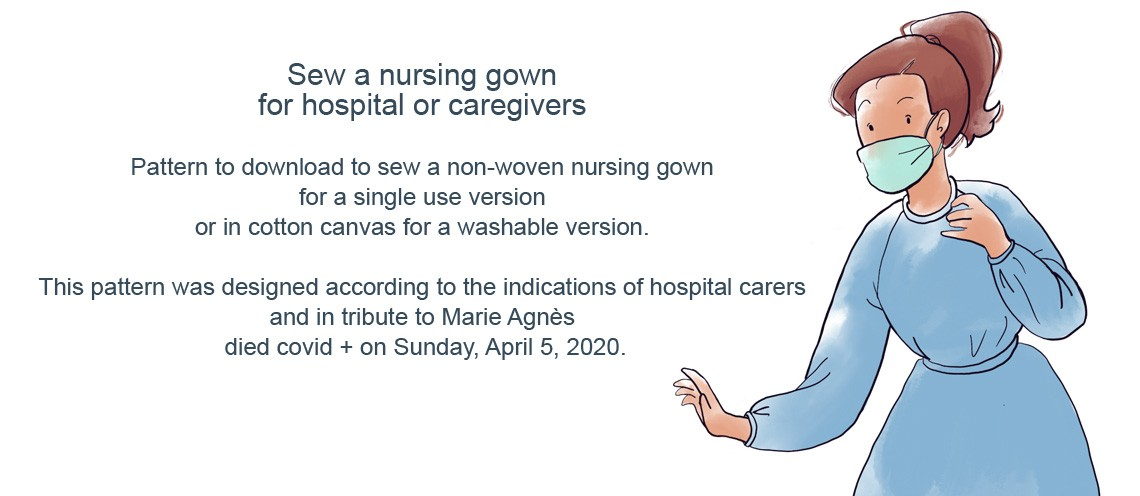 Sew a nursing gown for hospitals